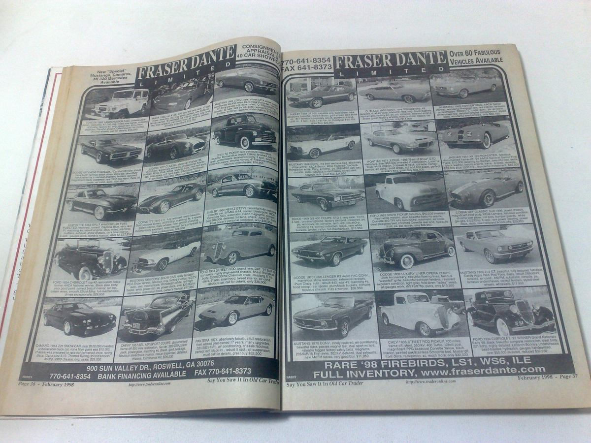Catalogo De Venta De Autos - Old Car Trader - Vol.15 N°2 - $ 90,00 ...