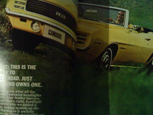 catálogo de venta original: chevrolet camaro 1969, en ingles
