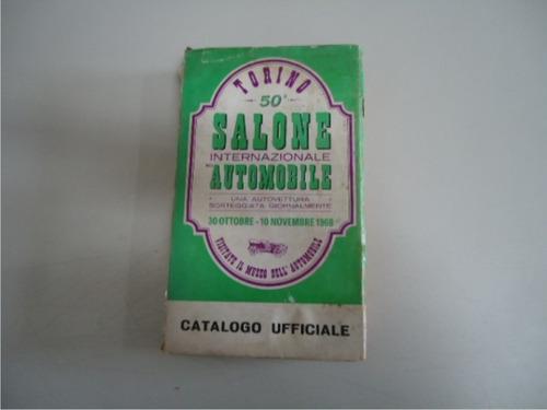 catálogo do salão do automóvel de turim de 1968 -   2144-pc5