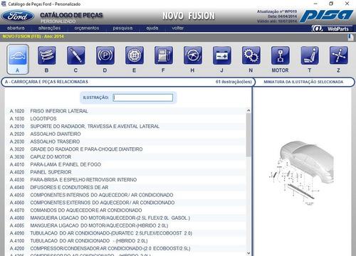 catálogo eletrônico peças ford 2014 ranger 2002 2003 2004