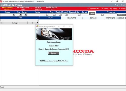 catálogo eletrônico peças honda brasil ed 2011 facil de usar