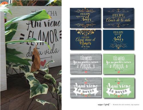 catálogo envió gratis letrero vintage boda paje pizarra