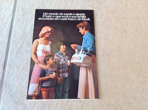 catálogo folheto antigo fábrica e produtos yakult raro f355