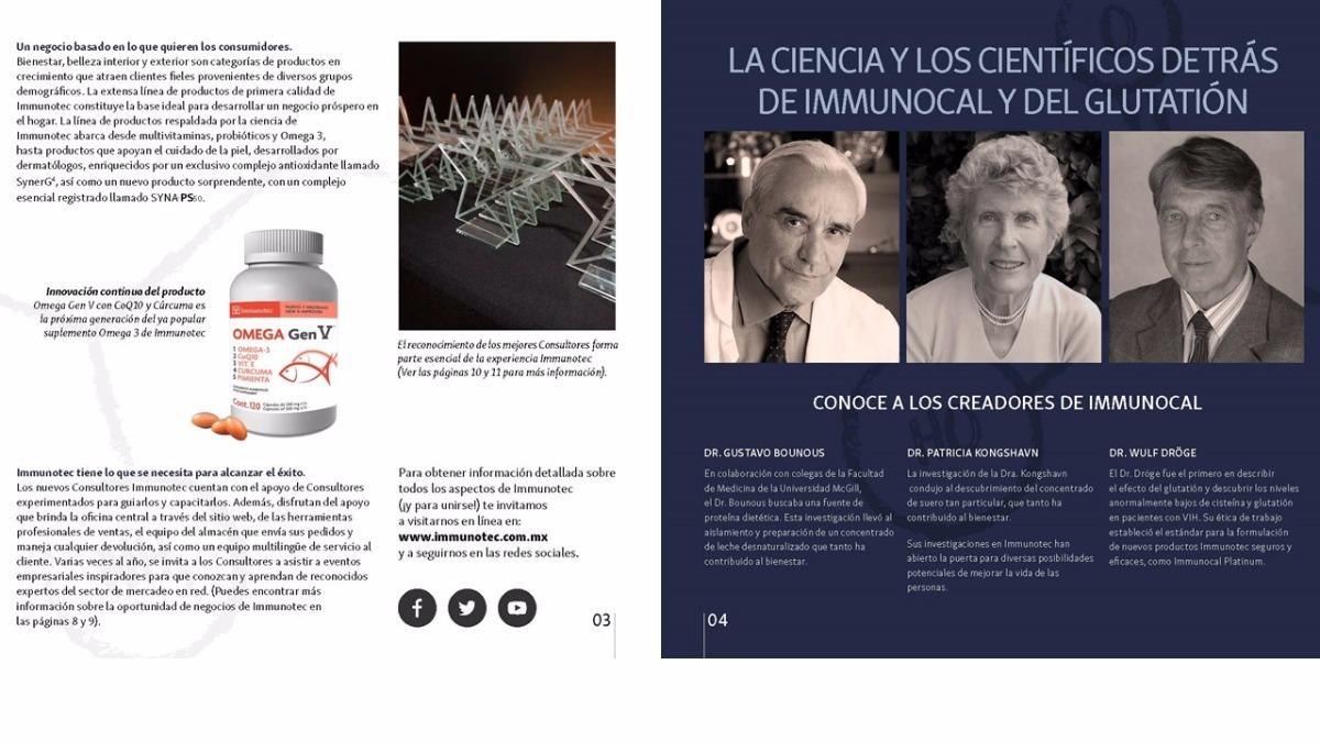 Catalogo Immunotec Immunocal Mx Immunocal Platinum Pdf