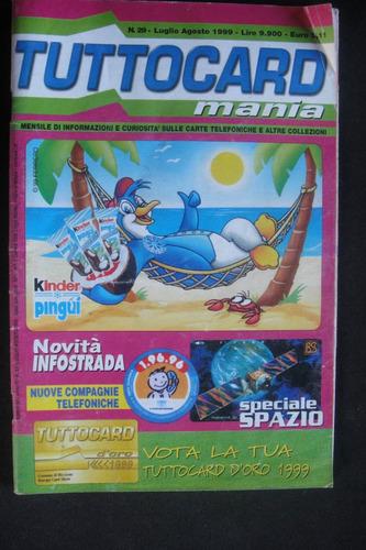 catalogo italiano cartão telefonico kinder ovo espaço
