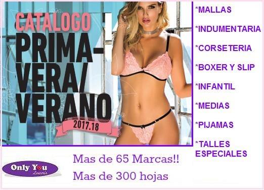 49d6a2291 Catalogo Lenceria Nuevo Primavera Verano 2018 Revendedor -   380