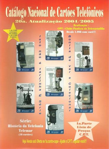 catalogo nacional de cartoes telefonicos n°20 novo