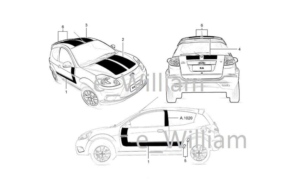 Catalogo Peas Bda Ford Ka 2010 Zetec Rocam 1 0l 1 6l