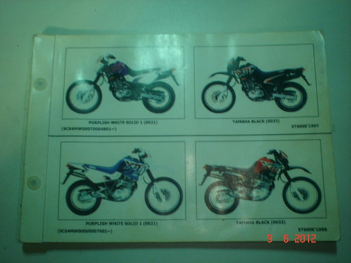 catalogo peças moto yamaha xt 600e motocicleta trail cross