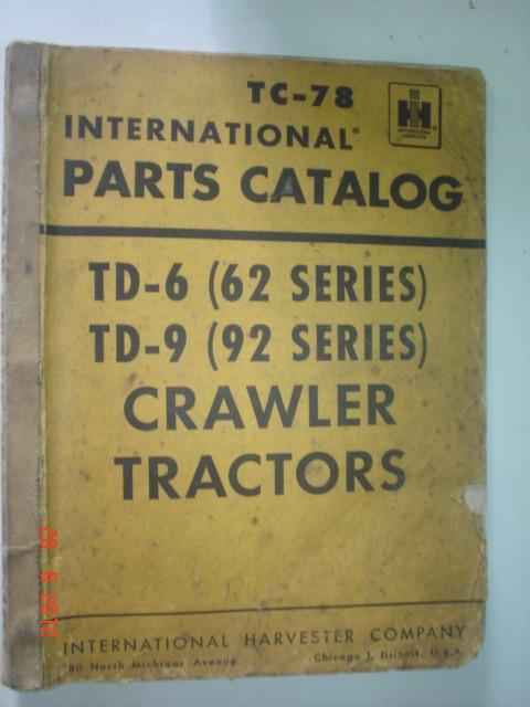 Catalogo Peças Trator International Td6 Td9 Original Manual