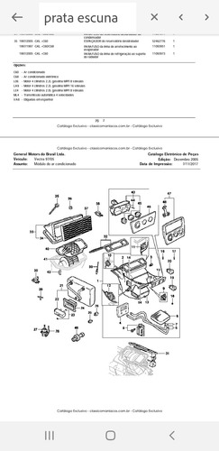 catálogo peças vectra 97 a 2005