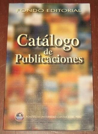catálogo publicaciones universidad católica del perú 1997-98