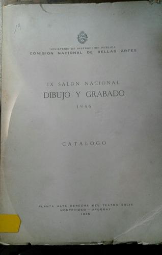 catálogo salon nacional dibujo grabado 1946