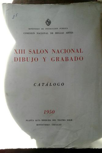 catálogo salon nacional dibujo grabado 1950