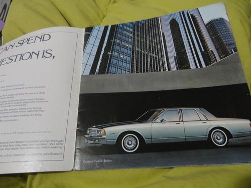 catalogo ventas (brochure) chevrolet caprice & impala 1981
