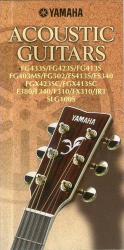 catalogo yamaha acoustic guitars