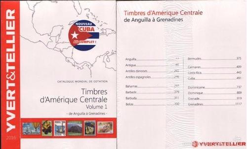 catalogo yvert sellos de américa central tomo 1 hasta 2016