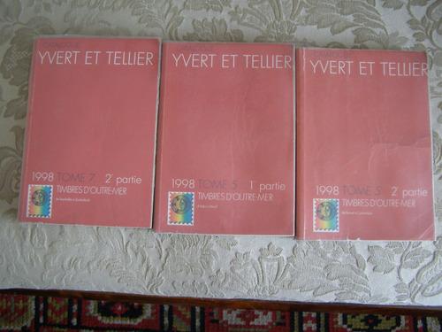 catalogos estampillas ivert y tellier, tres tomos