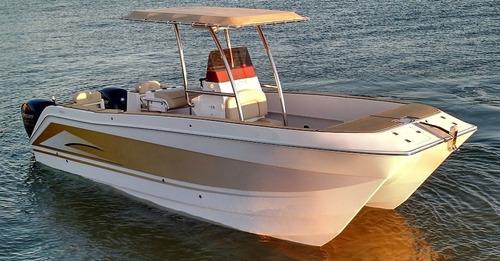 catamarã com console central nomad 7 cc 02 motores