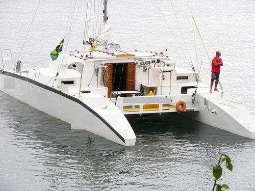 catamarã projeto francês wave pierce 53 pés 2008 fibra vidro