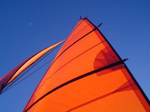 catamaran de diseño unico a vela / motor ideal para lago