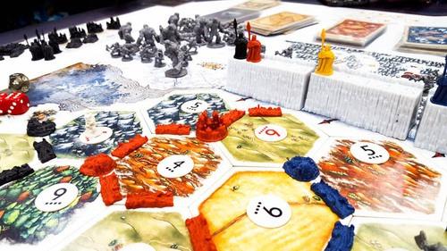 catan juego de tronos: la hermandad de la noche