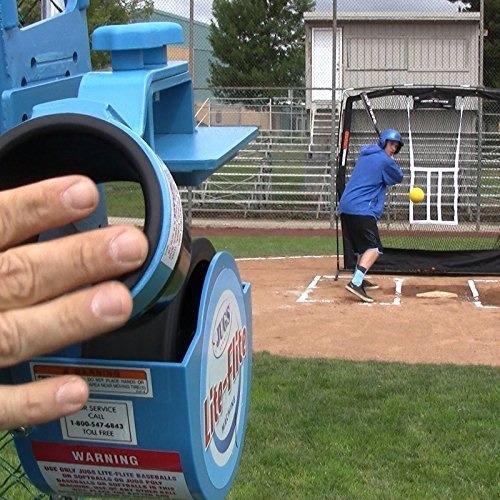 catapulta maquina bateo softball baseball jugs lanzadera