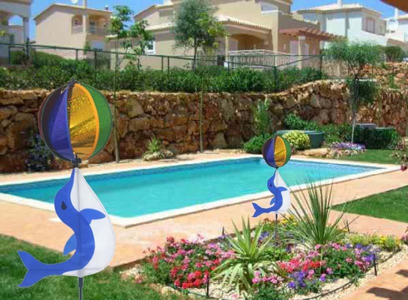 Catavento golfinho casa piscina jardim festa enfeite 90cm for Jardim na piscina