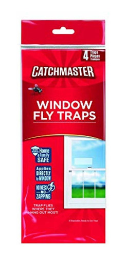 catchmaster 904 bug & fly clear window traps - 3 packs of 4