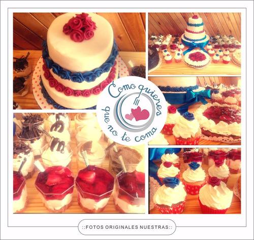 catering 30/40 personas salado+mesa dulce+torta abundante