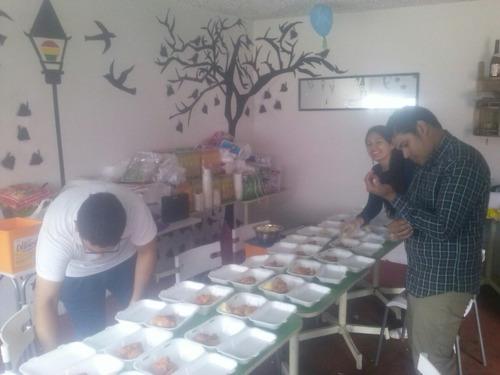 catering, almuerzo, cenas y buffet.