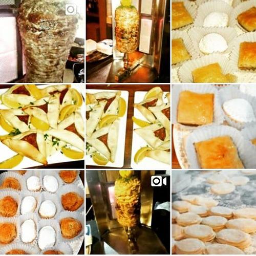 catering de shawarma, comida y dulces árabes a domicilio.