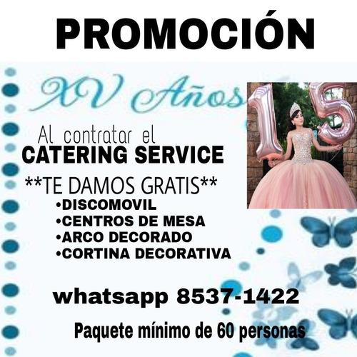 catering service con discomovil gratis
