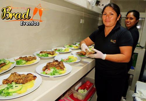 catering servicios de comida menaje mozos trujillo