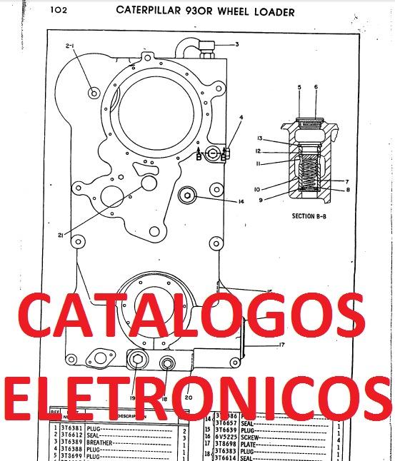 Caterpillar catalogos de pe as em pdf r 65 00 em for Catalogo pdf