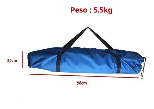 catre aluminio scout plegable resistente 150kg funda