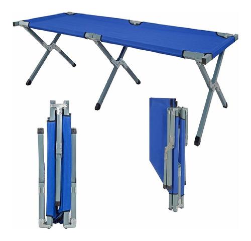 catre cama 1 plaza reforzado plegable soporta hasta 110 kg.