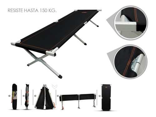 catre cama individual plegable camping excursion ecology