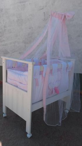 catre laqueada para nena completa (nueva)