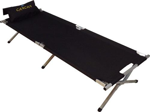 catre o cama para descansar de aluminio extraligero camastro