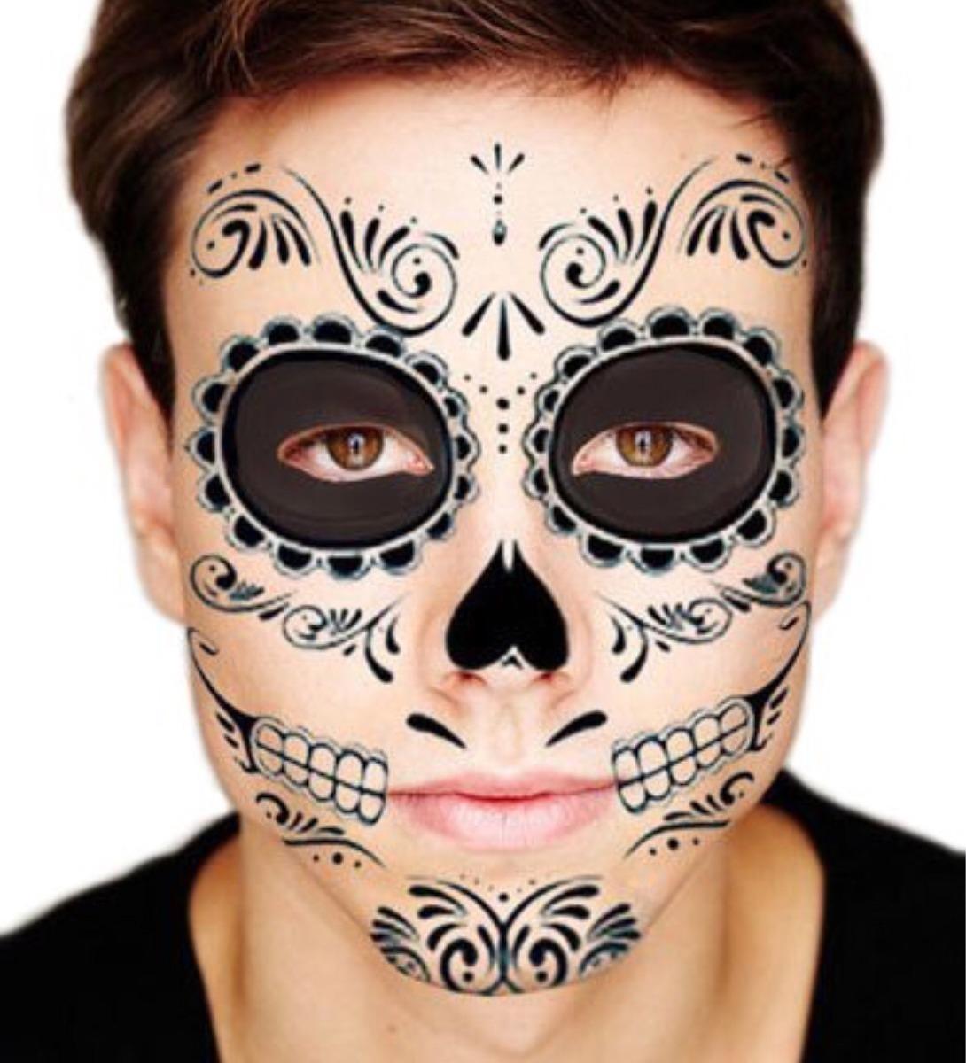 Catrina Tatuaje Halloween Catrin Día De Muertos Mayoreo 1800