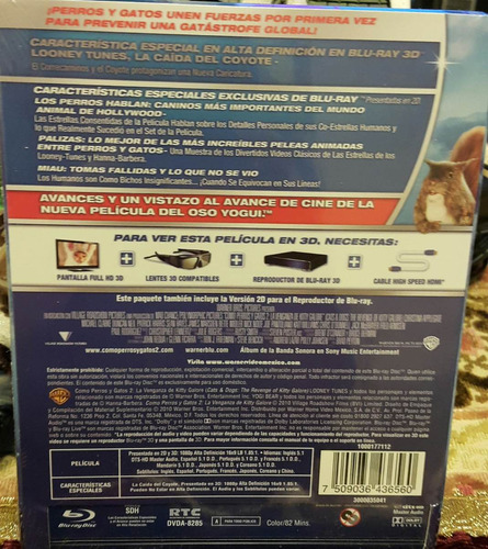 cats & dogs revenge of kitty galore blu-ray3d/2d