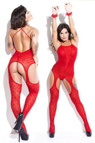 catsuit encaje super sensual sexy liguero medias lenceria