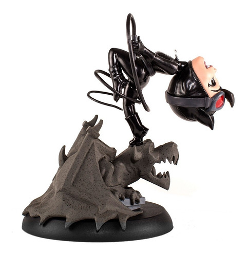 catwoman rebirth q-fig mini estatua - qmx - robot negro
