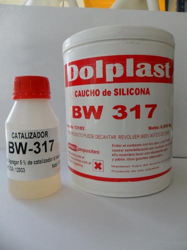 caucho de silicona dolplast bw 317 x 1 kg.