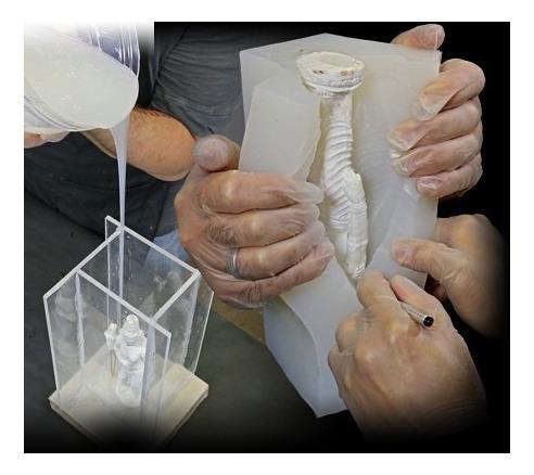 caucho de siliconas transparente za13 x 1 kg - envío gratis!