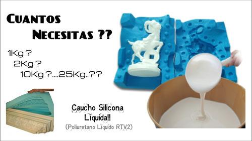 caucho silicona smooth tipo mold max 25 moldes 1kg ó 810ml