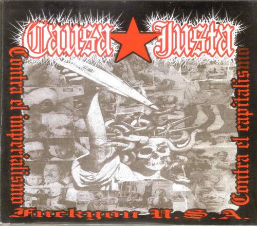 causa justa - fuckyou u.s.a. ( punk hc mexicano ) cd rock