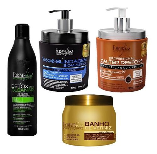 cauter restore, blindagem, botox zero e shampoo detox