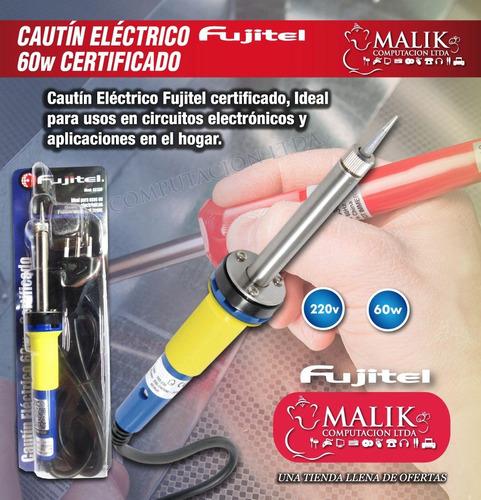 cautin electrico lapiz 60w 220v certificado sec seguro 100%